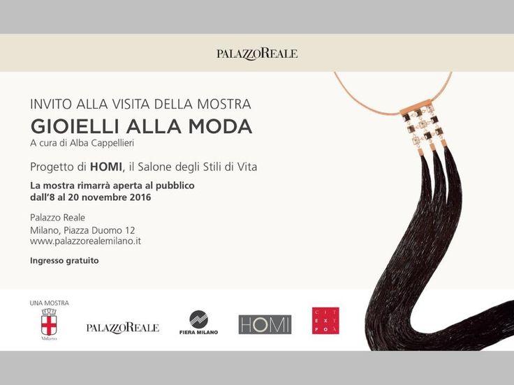 Splendida mostra a Palazzo Reale a Milano sui GIOELLI ALLA MODA, curata da Alba Cappellieri, Ornella bijoux presente