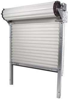 A heavy-duty commercial roll-up door does a simple job and does it well.