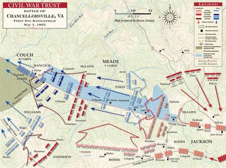 Chancellorsville - May 1, 1863 - Civil War Trust's map of the Battle of Chancellorsville
