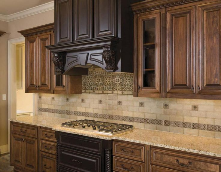Kitchen tuscan kitchen ideas backsplash bring something for Kitchen cabinets lowes with old world metal wall art