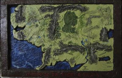 Mapa en relieve: La tierra media / Relief map: Middle earth