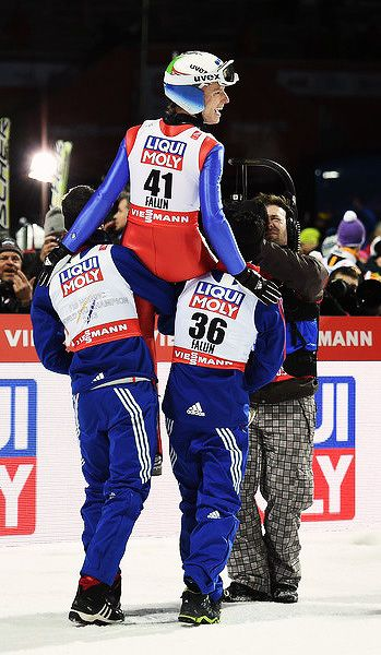 Rune Velta wins Ski Jumping HS100 competition at Falun 2015