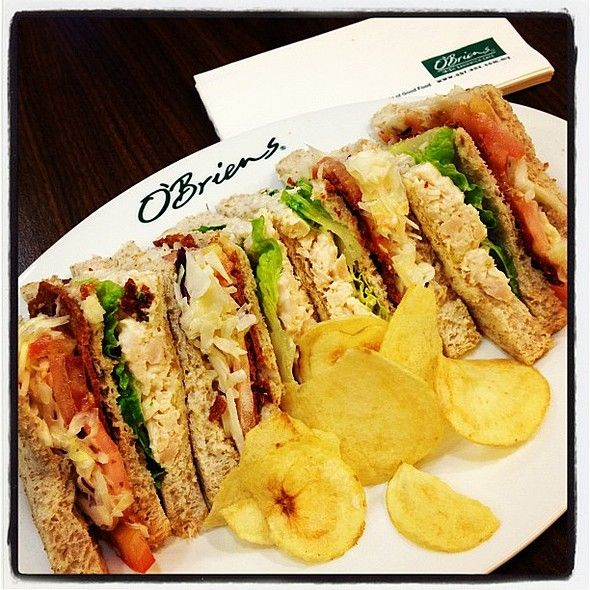 Simply delicious ! Triple Decker Sandwich from O'Brien's @whitewatersc