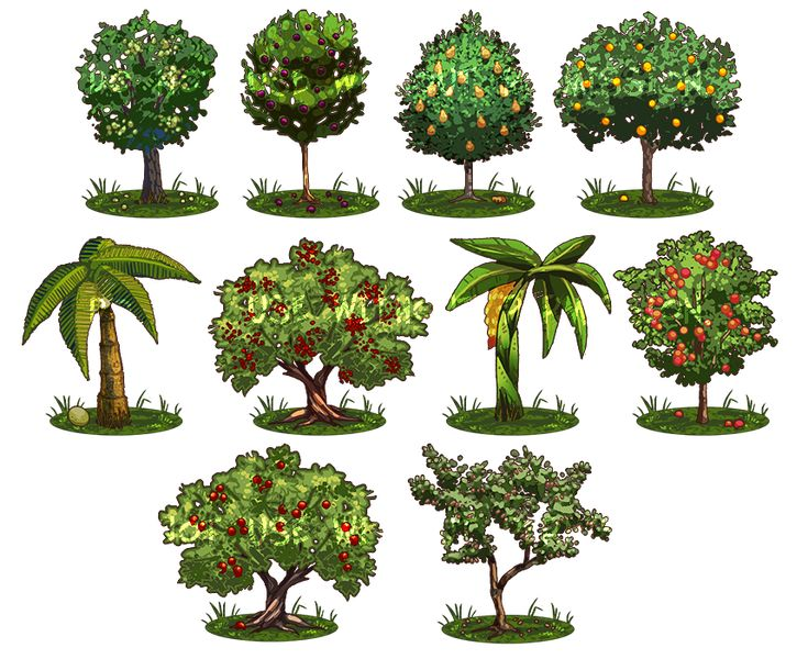 Game Items - Trees by *IntroducingEmy on deviantART
