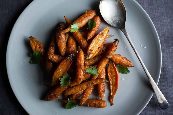 Steam-Roasted Carrots with Cumin -- carrots get intensely sweet and caramelized this way.