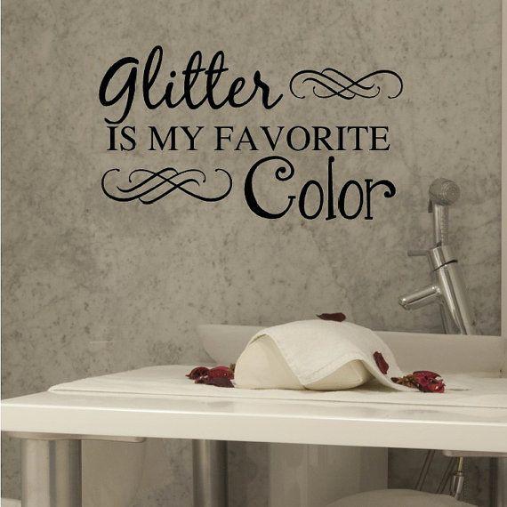 Nail Salon Art Spa Art Glitter Is My Favorite by VinylWritten