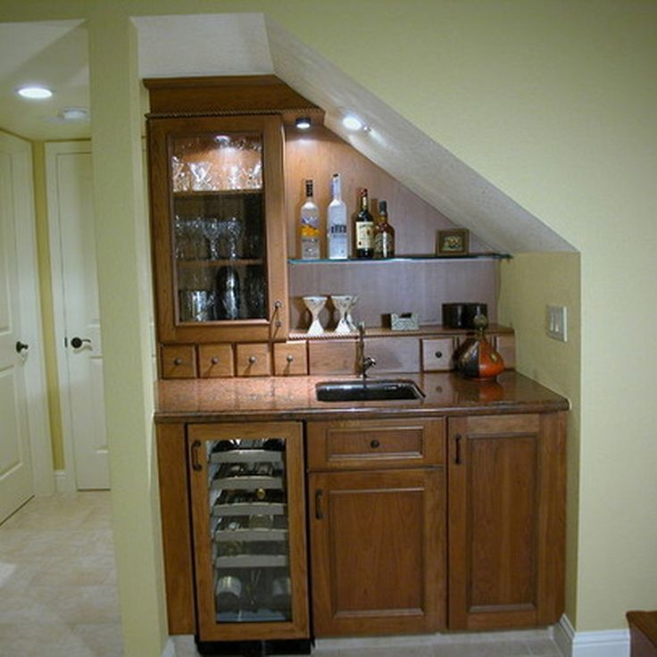 Awesome Ways To Use Space Under Stairs 63 Basement Bar | Bar Counter Design Under Stairs