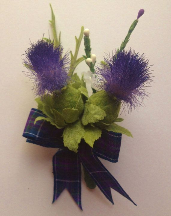 Stunning  Scottish Thistle Buttonhole for the Groom ,Best Man ,,Usher, Guest Wedding. on Etsy, $12.81