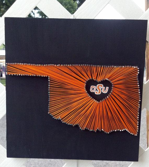 OSU  String Art. $35.00, via Etsy.  Could we make this?