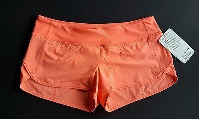 Lululemon Speed Short H2O grapefruit size 10 run swim workout flaw