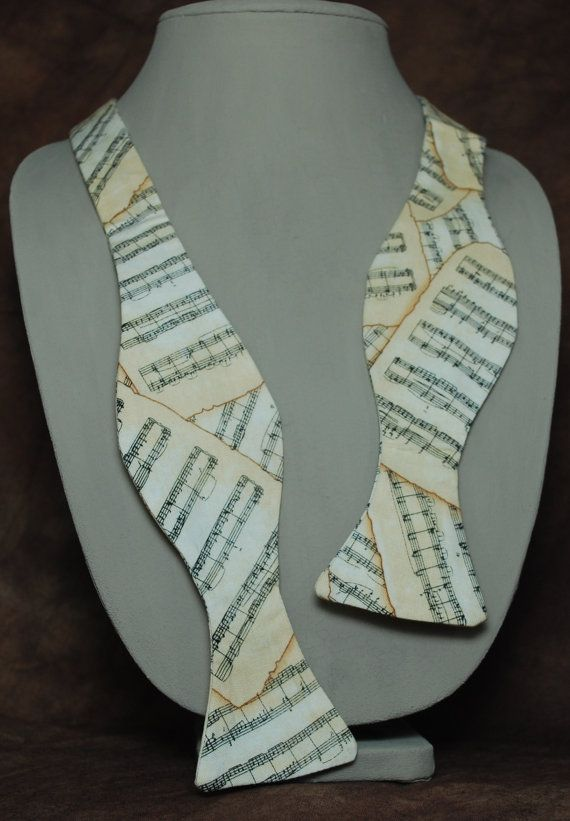 Sheet music bow tie by AbandonedWarehouse on Etsy