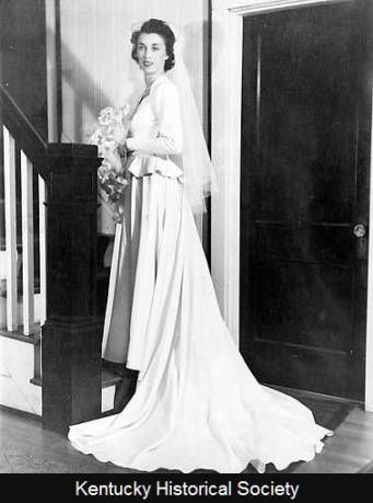 Betty O'Mara Vertuca in wedding gown. :: Ohio River Portrait Project