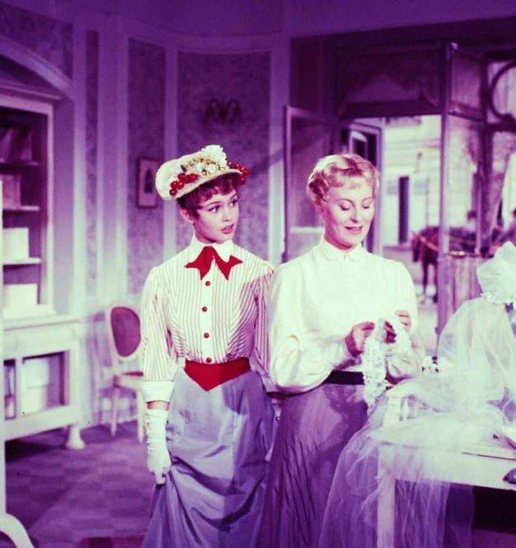 Michèl Morgan and Brigitte Bardot in Les grandes manoeuvres directed by René Clair, 1955