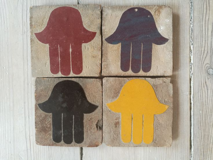 Decorative tiles with the Hand of Fatima