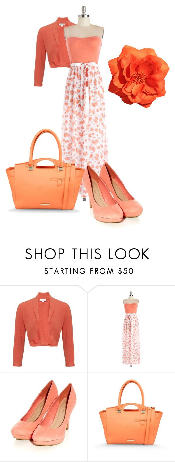 """""""Orange and peach outfit"""" by ain1313 ❤ liked on Polyvore featuring Monsoon, Alberta Ferretti and H&M"""