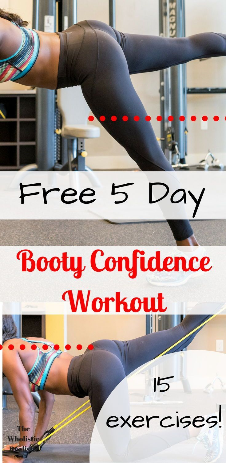 this 5 day workout template includes 15 booty exercises and will be sure to help you sculpt your glutes whether you workout from home or at the gym
