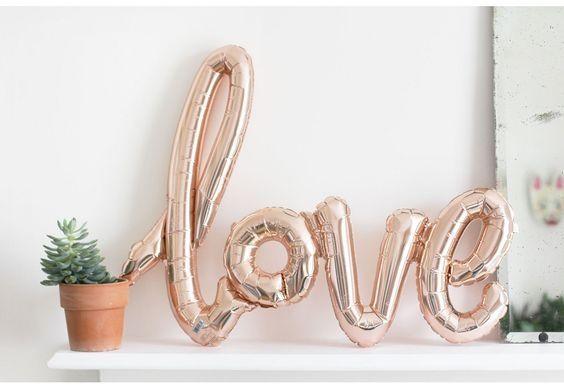 Εμφάνιση  λεπτομερειών Μπαλόνια σετ LOVE rose gold