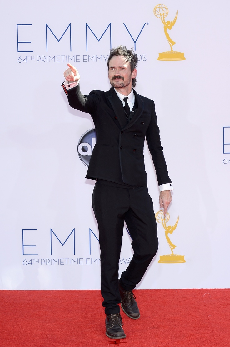 Actor Jeremy Davies arrives at the 64th Annual Primetime Emmy Awards at Nokia Theatre L.A. Live. #Justified