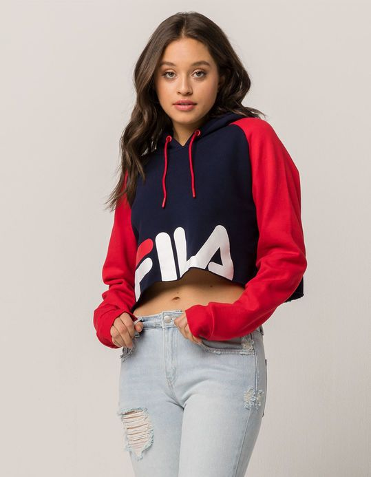 4d44eff6 FILA Luciana Womens Crop Hoodie | Fashion!... OOTD | Fila outfit ...