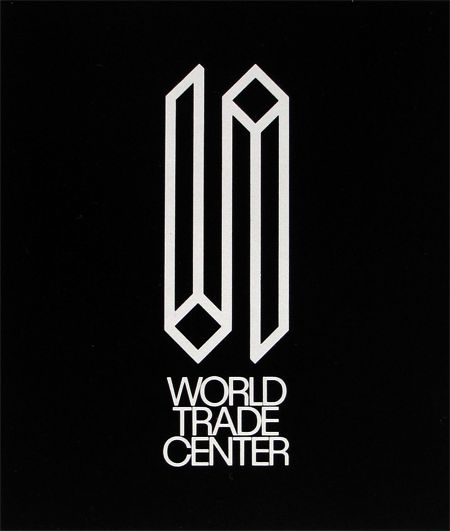 World Trade Center by Herb Lubalin  Unfortunately, the one upside down part now reminds us of their destruction.
