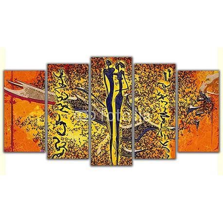 Obraz na płótnie poliptyk - Afrykańska grafika  #fedkolor #poliptyk #obraz #5części #nowoczesne #modern #ozdoba #dekoracje #wnętrza #pokój #salon #jadalnia #biuro #gabinet #meble #Afryka #afrykańskie #abstrakcja