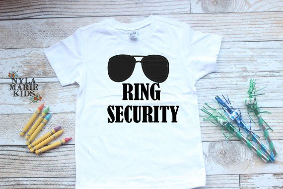 Ring Security Boys Shirt Wedding Party attire by NylaMarieKids