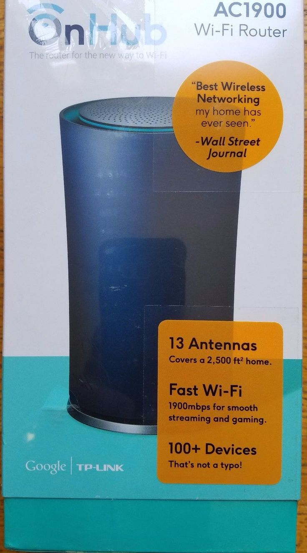 OnHub TP Link Wi-Fi AC1900 Internet Router Blue Google TG1900 802.11 a/b/g/n/ac
