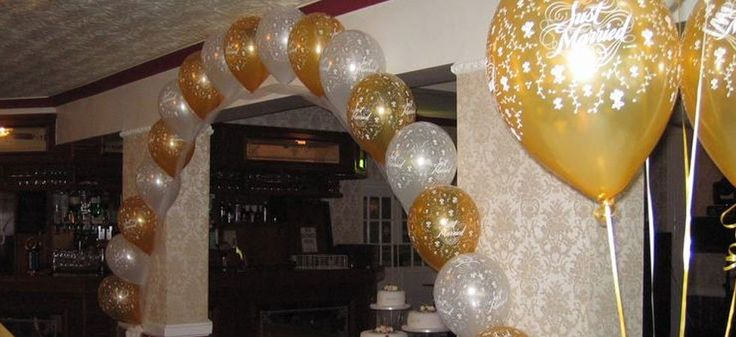golden colour balloons
