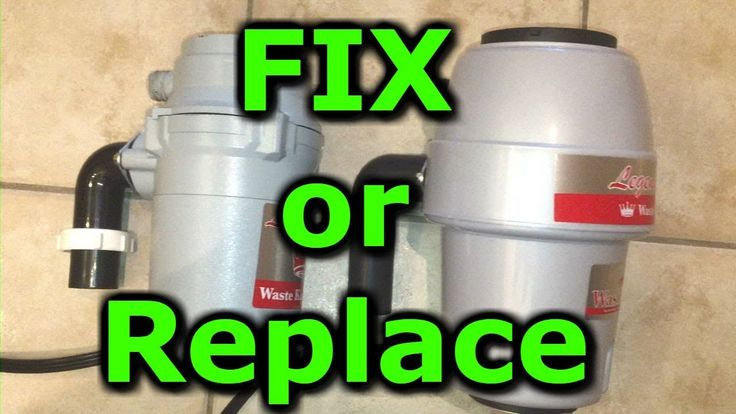 Garbage disposal removal and replacement installation