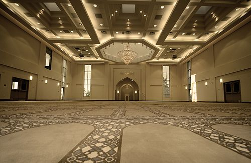 Baitun Nur Mosque, Calgary Canada - Prayer Hall by Engr. Mazhar-ul-Haq Khan, via Flickr