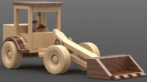 Plans de fabrication .pdf de la chargeuse sur pneus. A offrir à vos petits-enfants comme cadeau tendance, tout en bois fait main, ou pour le vendre sur Etsy.com et en tirer bénéfice.
