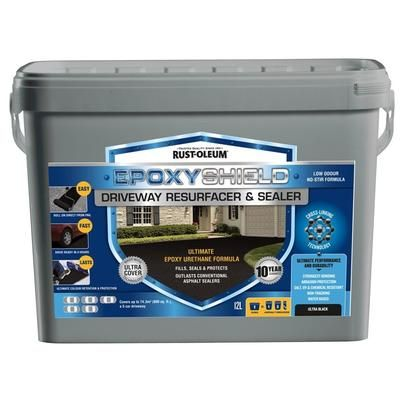 EpoxyShield - Driveway Resurfacer & Sealer 12L - 258866 - Home Depot Canada $59.87