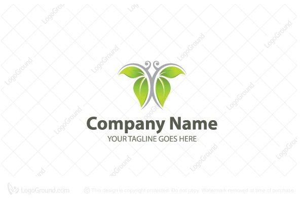 Logo for sale: Green Butterfly Logo