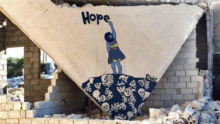 Street art at Syria by street artist Abu Malik al-Shami – Ovalme