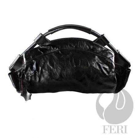 FERI OBSIDIAN HANDBAG, beautiful soft Italian Leather.  (click on pic to go to my website)