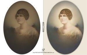 Helen Jenkins Photo Restoration Before & After by Pritchett Studio Photo Restoration in Pittsburgh PA.