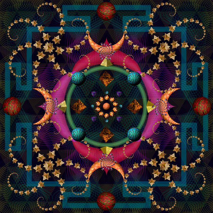 Julian Venter. Jewel Mind Mandala. 100 cm x 100 cm. LIMITED Edition Giclee Prints on paper.   Edition of 34.