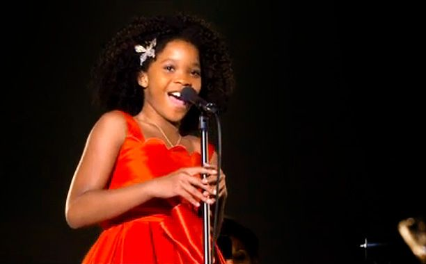 """This isn't theAnnieyou know. In a new clip, Quvenzhané Wallis sings an entirely new song written for the film by""""Chandelier"""" singerSia and Greg Kurstin.The song..."""