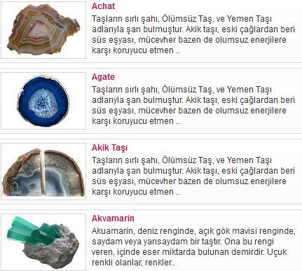 Doğal ve Şifalı Taşlar Sitesi » Taslar.NET   http://www.yusufkisa.com/genel/taslar/ - #taşlar