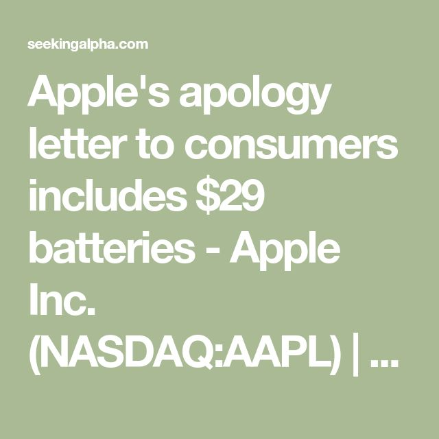 The 25+ best Aapl nasdaq ideas on Pinterest Valeant - customer apology letter examples