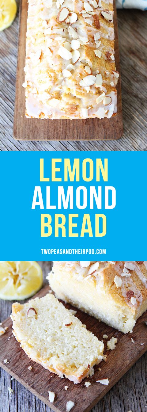 This easy Lemon Almond Quick Bread with a sweet lemon glaze and sliced almonds is great for breakfast, brunch, or dessert. Everyone LOVES it!