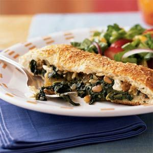 Spinach and Feta-Stuffed Focaccia Recipe