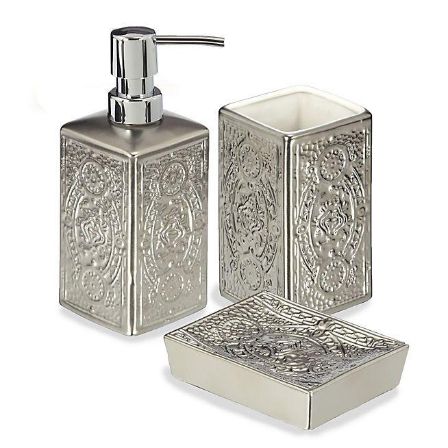 alicia ensemble daccessoires de salle de bains style oriental - Alinea Salle De Bain Accessoires