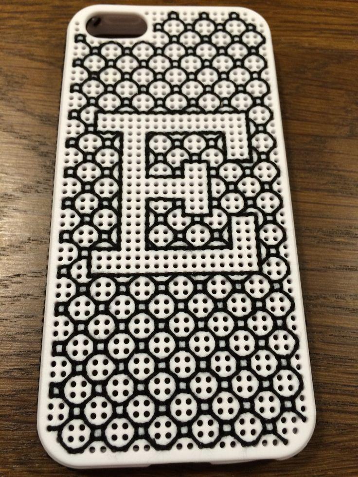 Iphone 5S borduren monogram