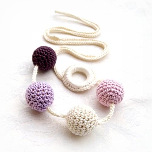 "Babahami Horgooka ""Lila"" creative mummy necklace, teething necklace"