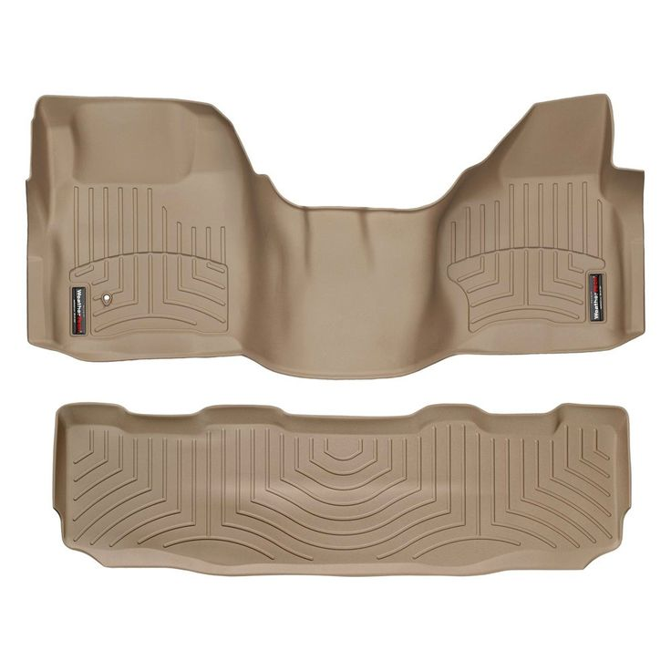 """WeatherTech 452931-450022 Series Tan Front and Rear FloorLiner Over the Hump - FloorLiner(TM) In the quest for the most advanced concept in floor protection, the talented designers and engineers at WeatherTech(R) have worked tirelessly to develop the most advanced floor protection available today! The WeatherTech(R) FloorLiner(TM) accurately and completely lines the interior carpet giving """"absolute interior protection(TM)""""! The WeatherTech(R) FloorLiner(TM) lines the interior carpet up the…"""