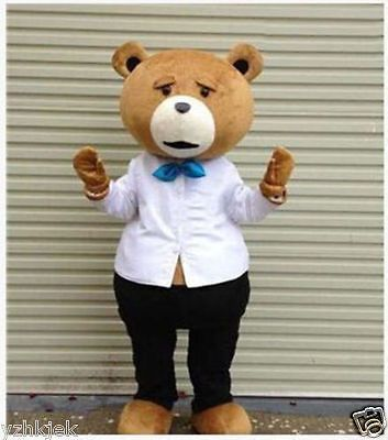 New #teddy bear of ted #adult size halloween cartoon mascot costume fancy #dress , View more on the LINK: http://www.zeppy.io/product/gb/2/381682185886/