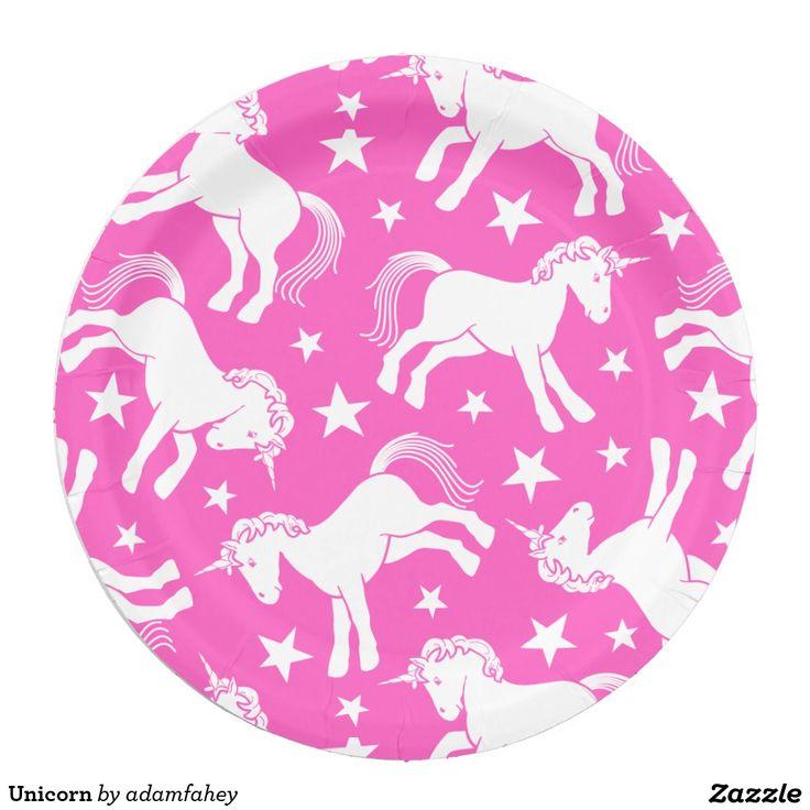 Unicorn 9 Inch Paper Plate