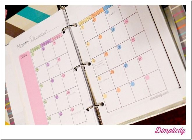 Diy Calendar Binding : Mini binders printables this girls is pretty cool if
