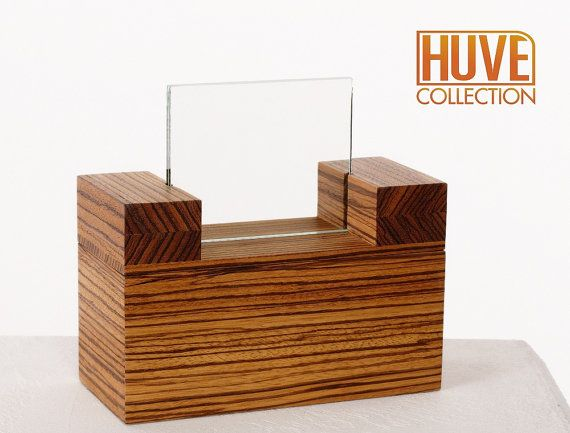 pet urn modern with photo frame by HUVEcollection on Etsy